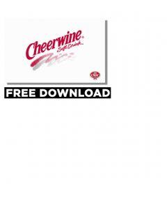 Cheerwine Retro Logo Wallpaper