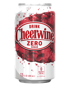 Cheerwine Zero Sugar Cans 24-pack