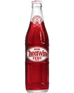 Cheerwine Zero Sugar Glass Bottles 24-Pack