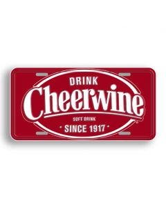 Cheerwine Sign - License Plate