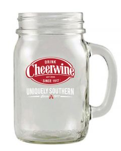 Cheerwine Glass Mason Jar