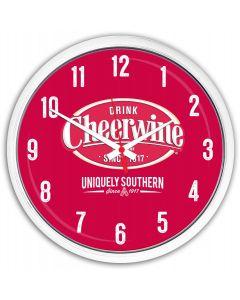 Cheerwine Round Clock