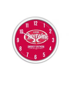 Cheerwine Round Clock