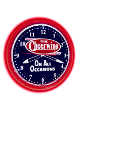 Cheerwine Neon Clock